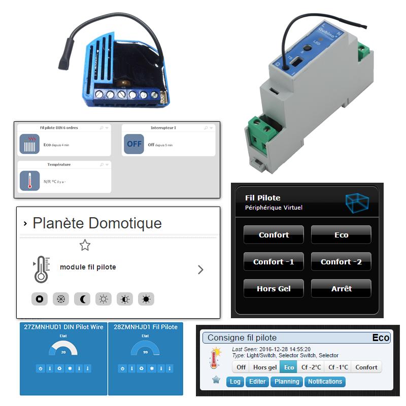 Prise en charge du module fil pilote Qubino sur différentes solutions