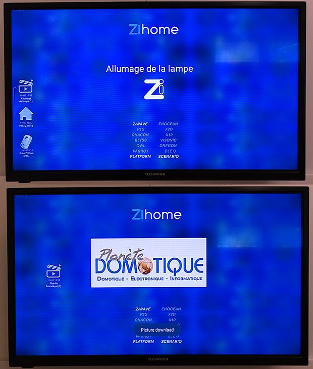 ZiHome sur Bbox Miami : affichage de texte et logo