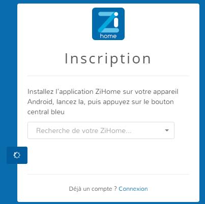 Association ZiHome à un compte ZiBlue