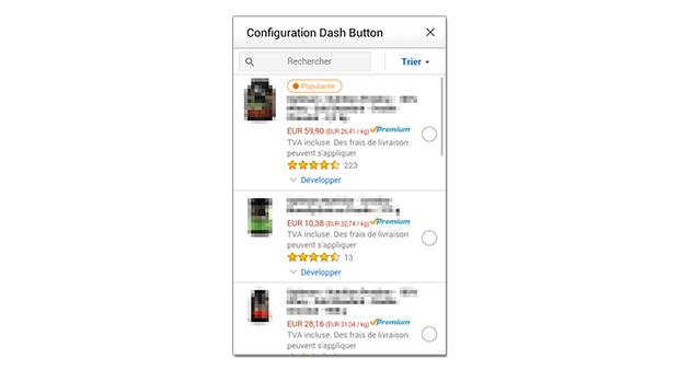 Fin de configuration du bouton Amazon Dash