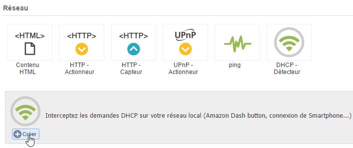 eedomus ajout du détecteur DHCP
