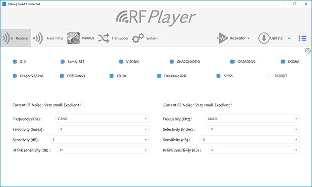 Découverte de l'utilitaire de configuration du RFPlayer