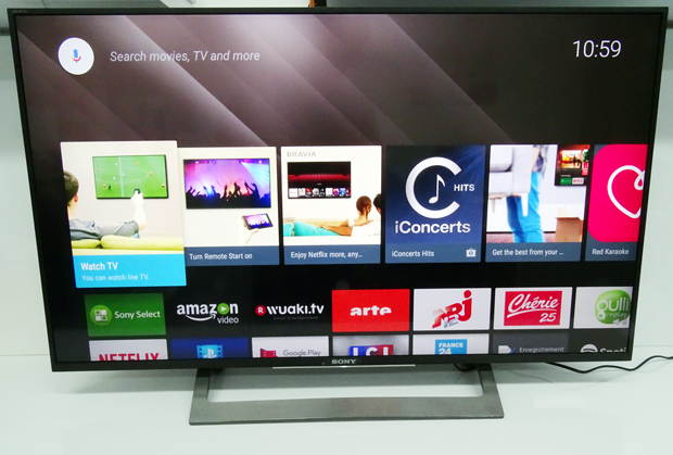 Smart TV Sony de Bravia - vue globale