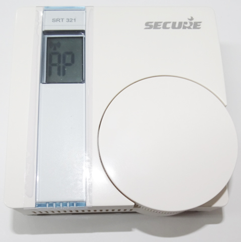 "Ecran ""AP"" sur le thermostat Secure (Association réussie)"