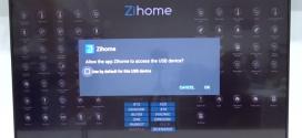 ZiHome tournant sur la SmartTV Bravia de Sony