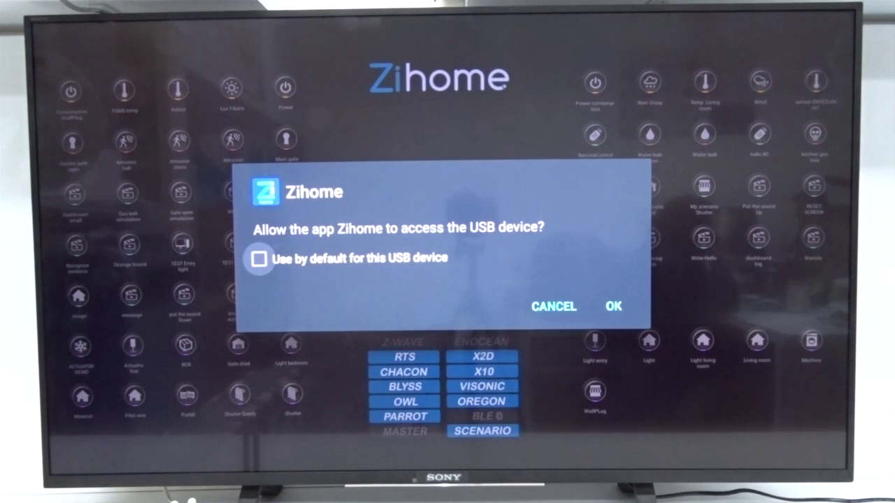 Installing the ZiHome system on a Sony Bravia Android SmartTV