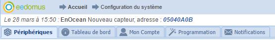 eedomus notification : dernière non lu