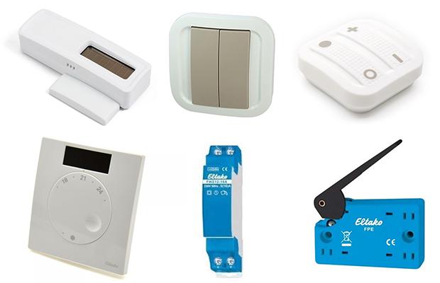 Exemple de produits compatibles avec EnOcean