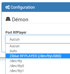 Configuration du rEFPlayer dans Jeedom