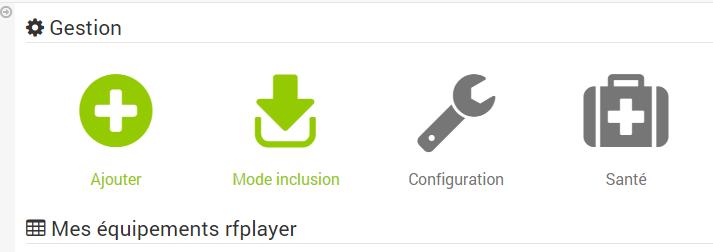 Jeedom et RFPlayer : modes d'ajout de périphériques