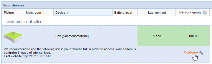 How to configure RFPlayer in Eedomus