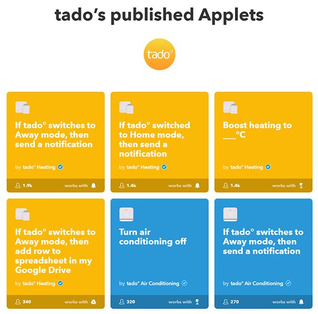 Applets de Tado°