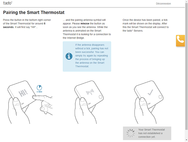 Guide de synchronisation du thermostat Tado°