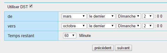 Configuration horaire de la caméra IP Orno