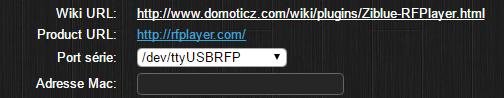 Choix du port série du RFPlayer (avec symlink et plugin)