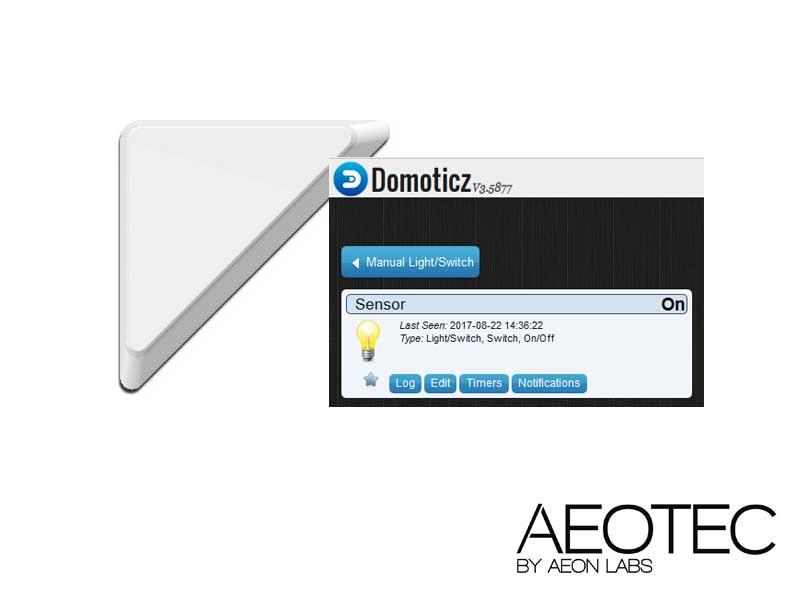 Domoticz : Configuration du capteur d'ouverture ZW112 d'AEON LAB