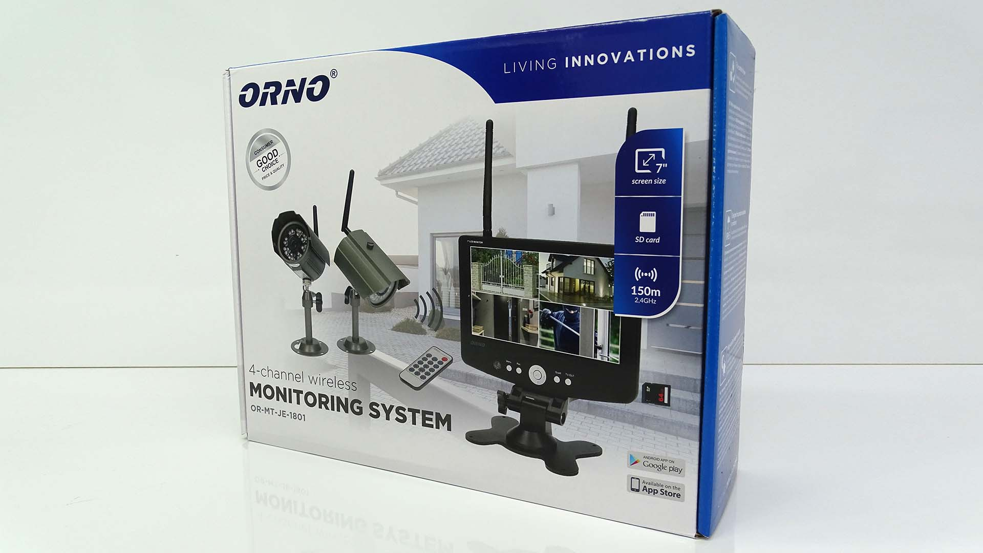 le syst me de vid o surveillance autonome par orno. Black Bedroom Furniture Sets. Home Design Ideas