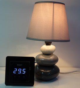 Lampe allumée à 29.5°