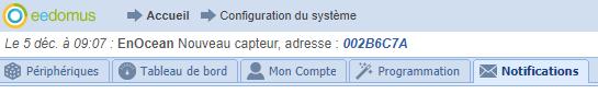 Notification périphérique trouvé