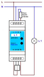 Schéma de l'adaptateur bleu