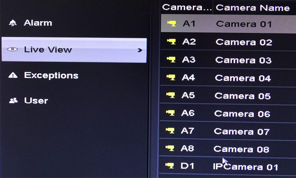 Choix de la caméra