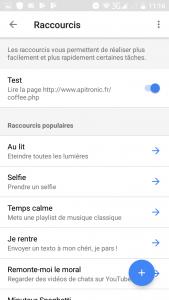 5 - Raccourcis Google home