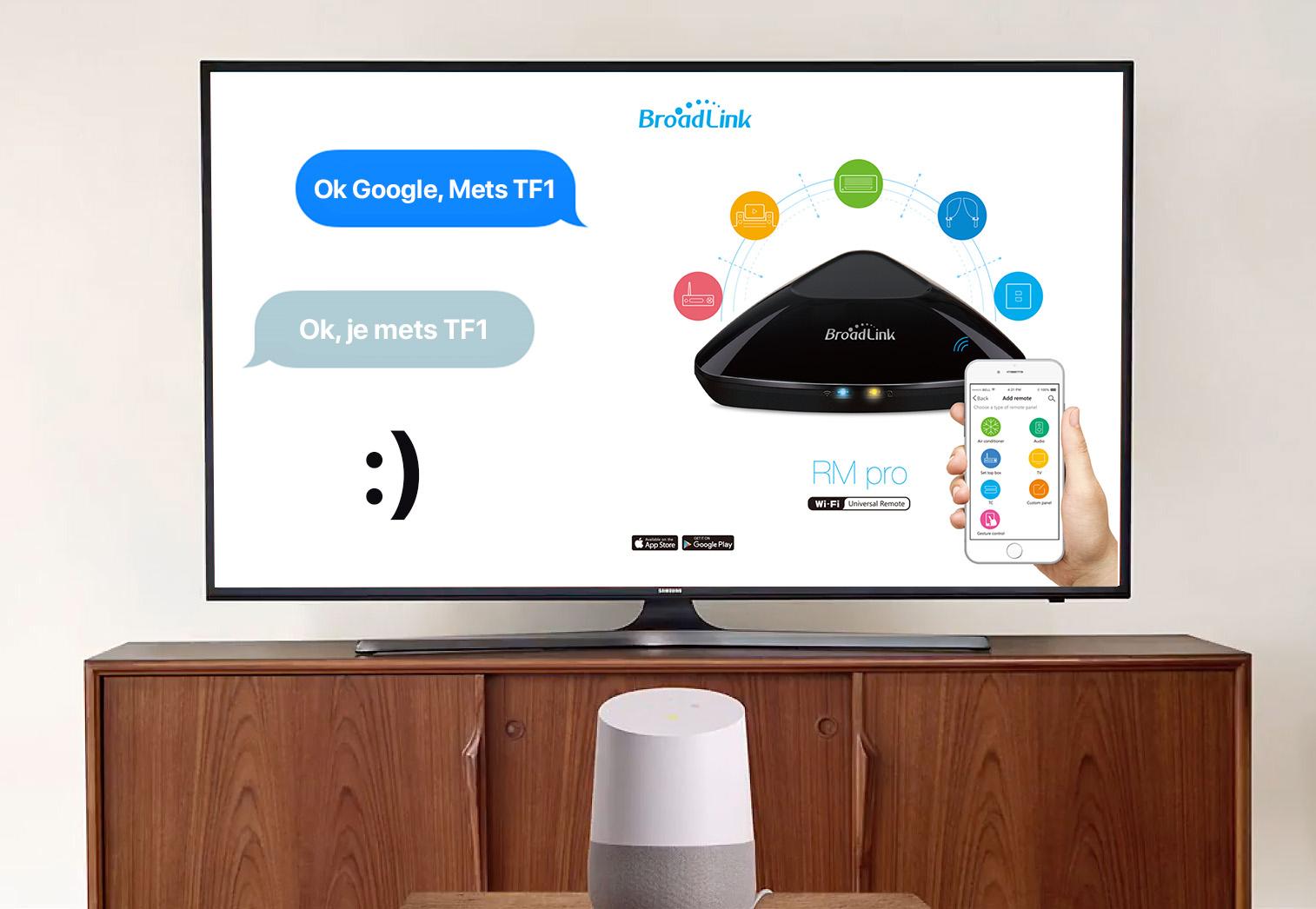 Contrôlez votre RM Pro et vos équipements avec votre voix grâce au Google Home