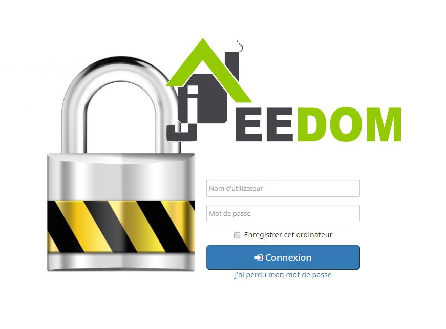 Jeedom : changer le mot de passe admin