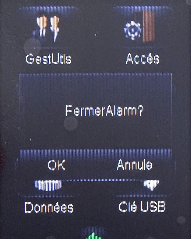 Fermer alarme