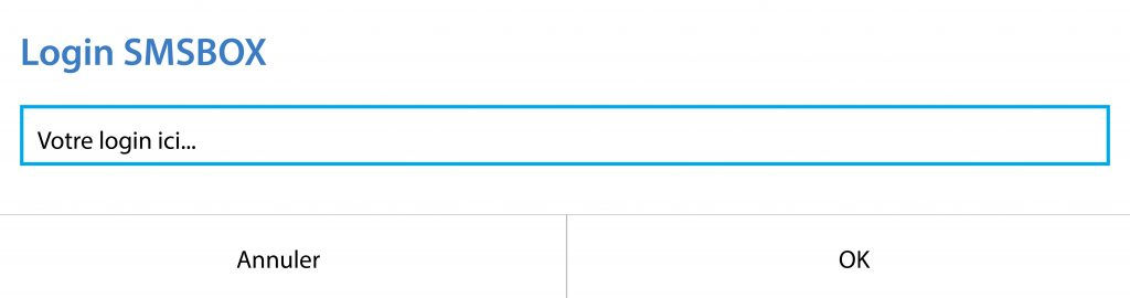 SMSBOX login