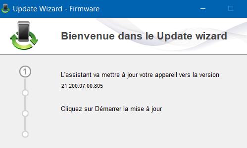 Update Wizard firmaware