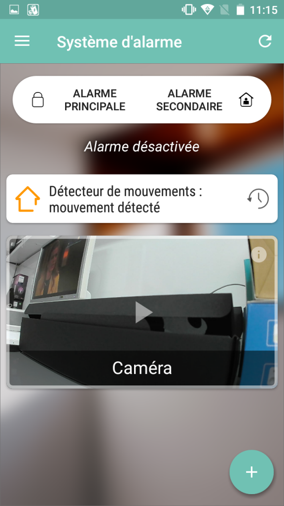 L'interface de l'application