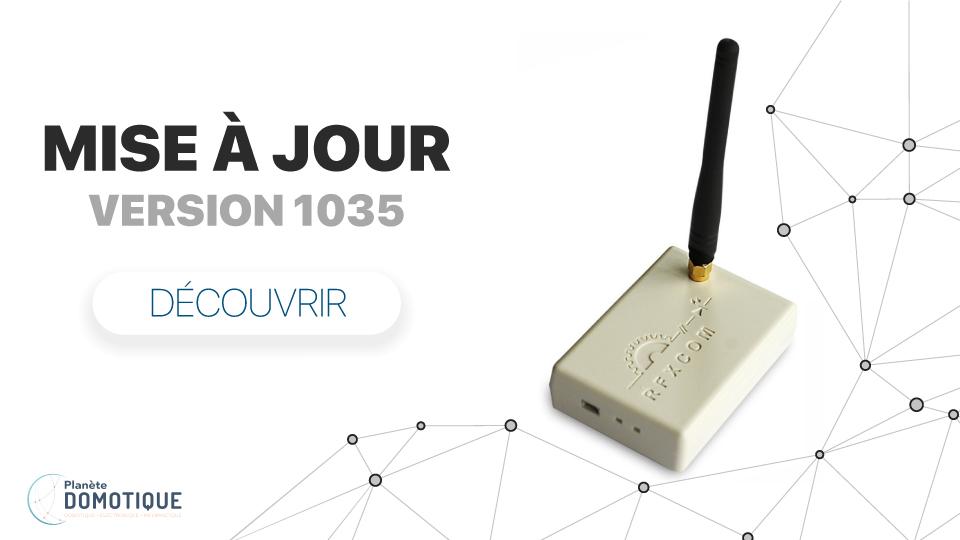 RFXCom : Nouveau firmware 1035 pour RFXtrx433E Pro1, Pro2 et ProXL1
