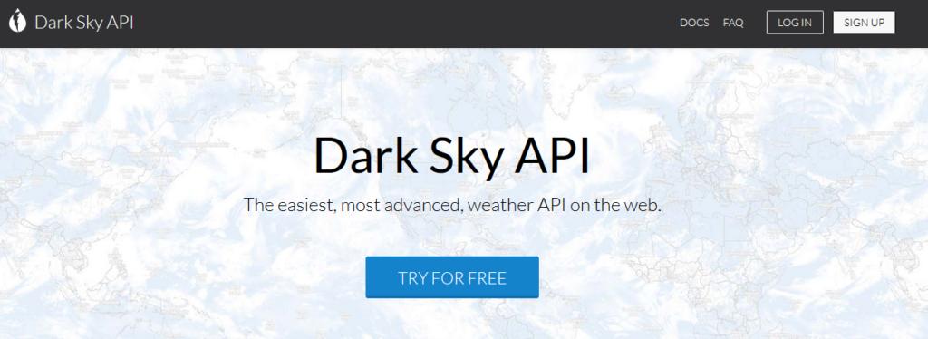 DarkSky API site Web