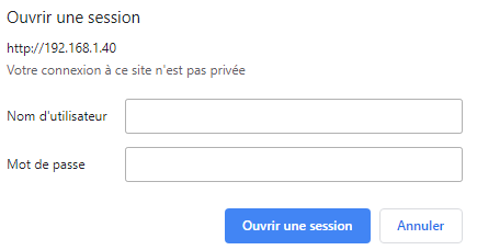 Ouvrir une session