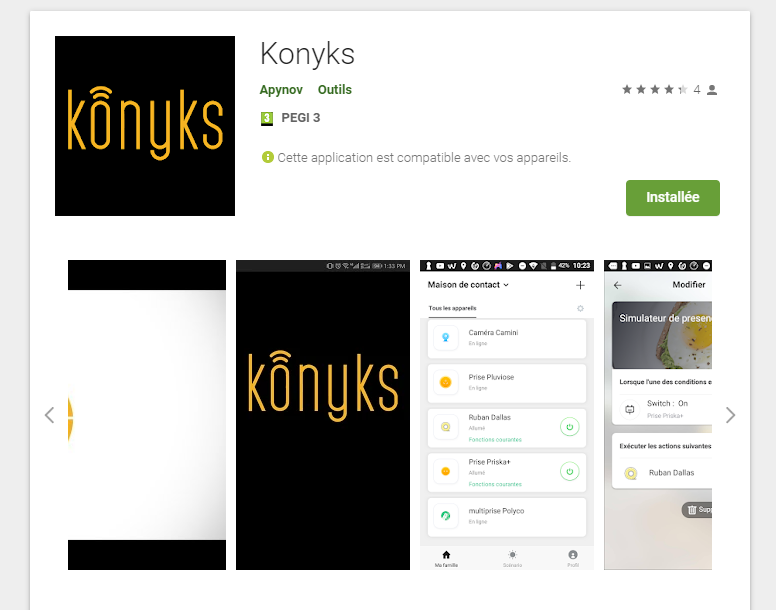 Konyks sur le Playstore