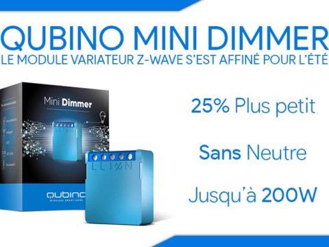 Qubino mini dimmer, le module variateur Z-wave s'est affiné l'été !