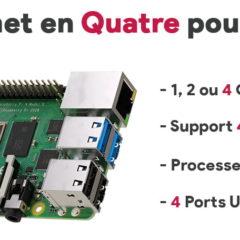 Raspberry Pi 4 Modèle B : Il se met en Quatre pour vous !