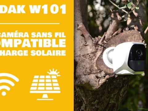 Kodak W101 : La caméra sans fil compatible avec la recharge solaire