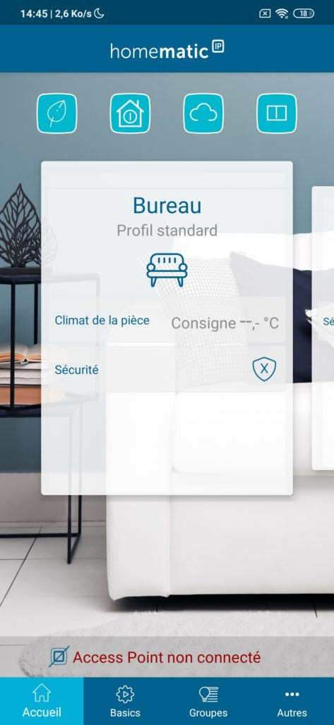 Homematic Nouvelle interface