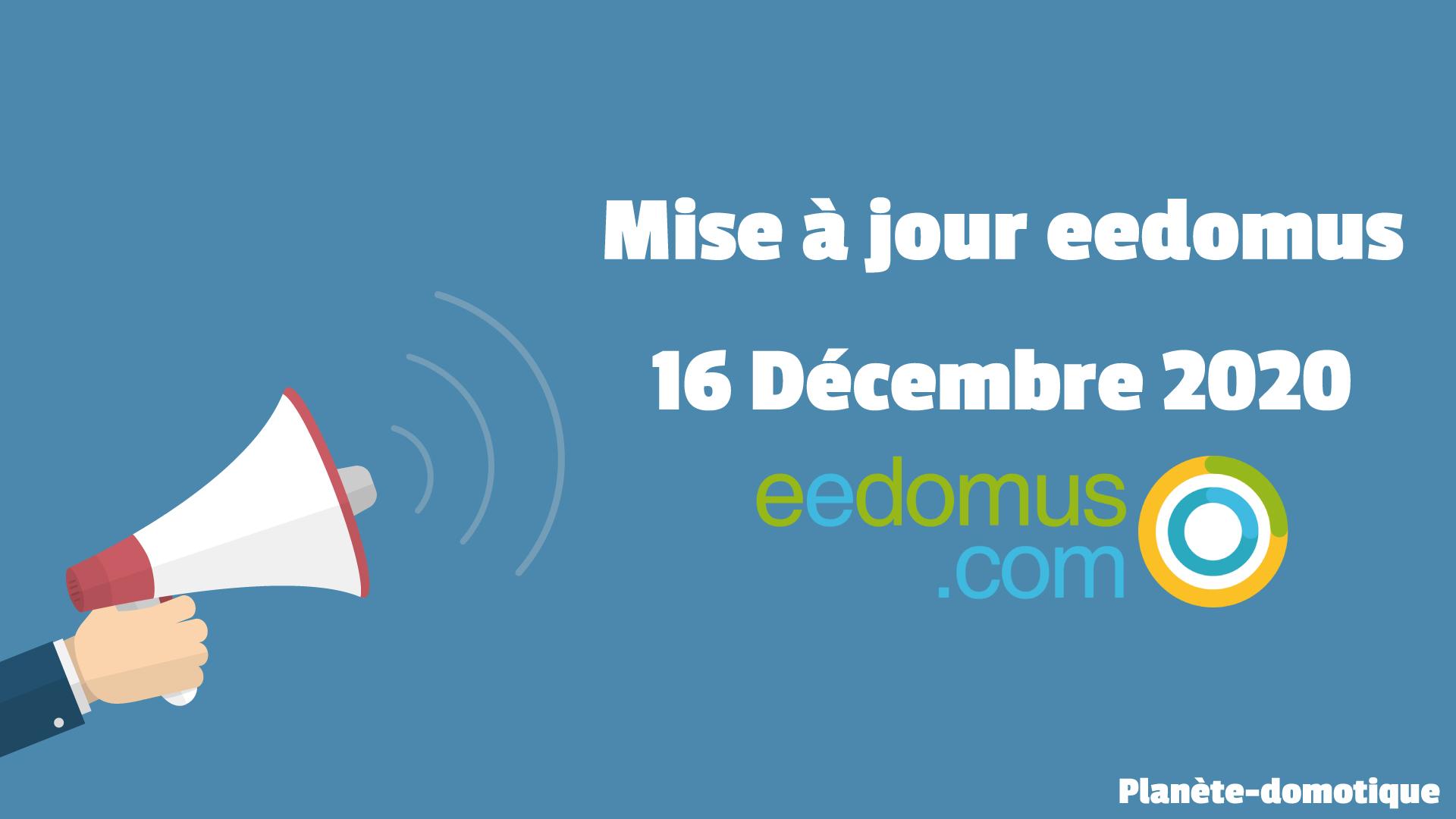 Mise à jour eedomus du Mercredi 16 décembre 2020 : AirSend & Zigbee