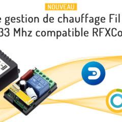Nouveau kit de chauffage fil pilote 433 Mhz compatible RFXcom