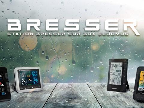 Station météo Bresser WiFi sur eedomus avec Weather Underground