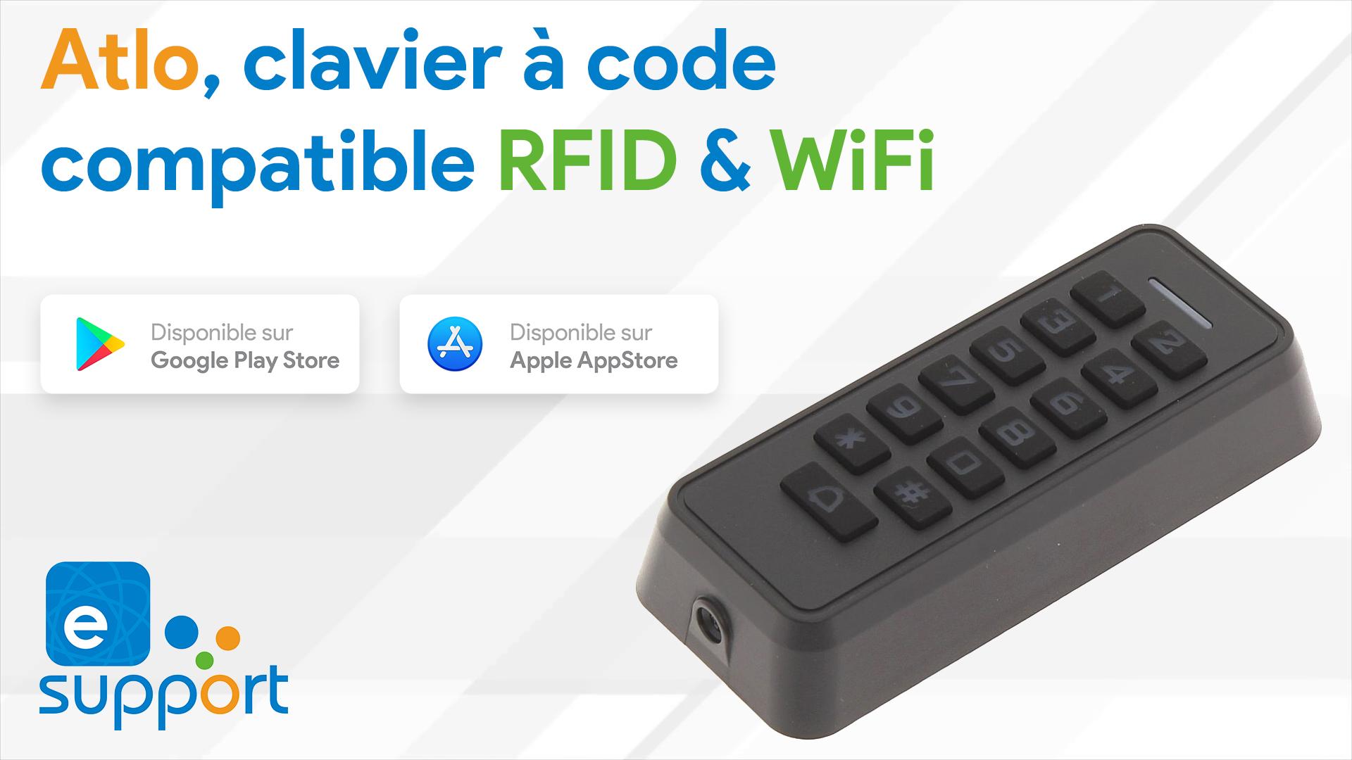 Alto, un lecteur RFID avec clavier à code compatible WiFi via eWeLink