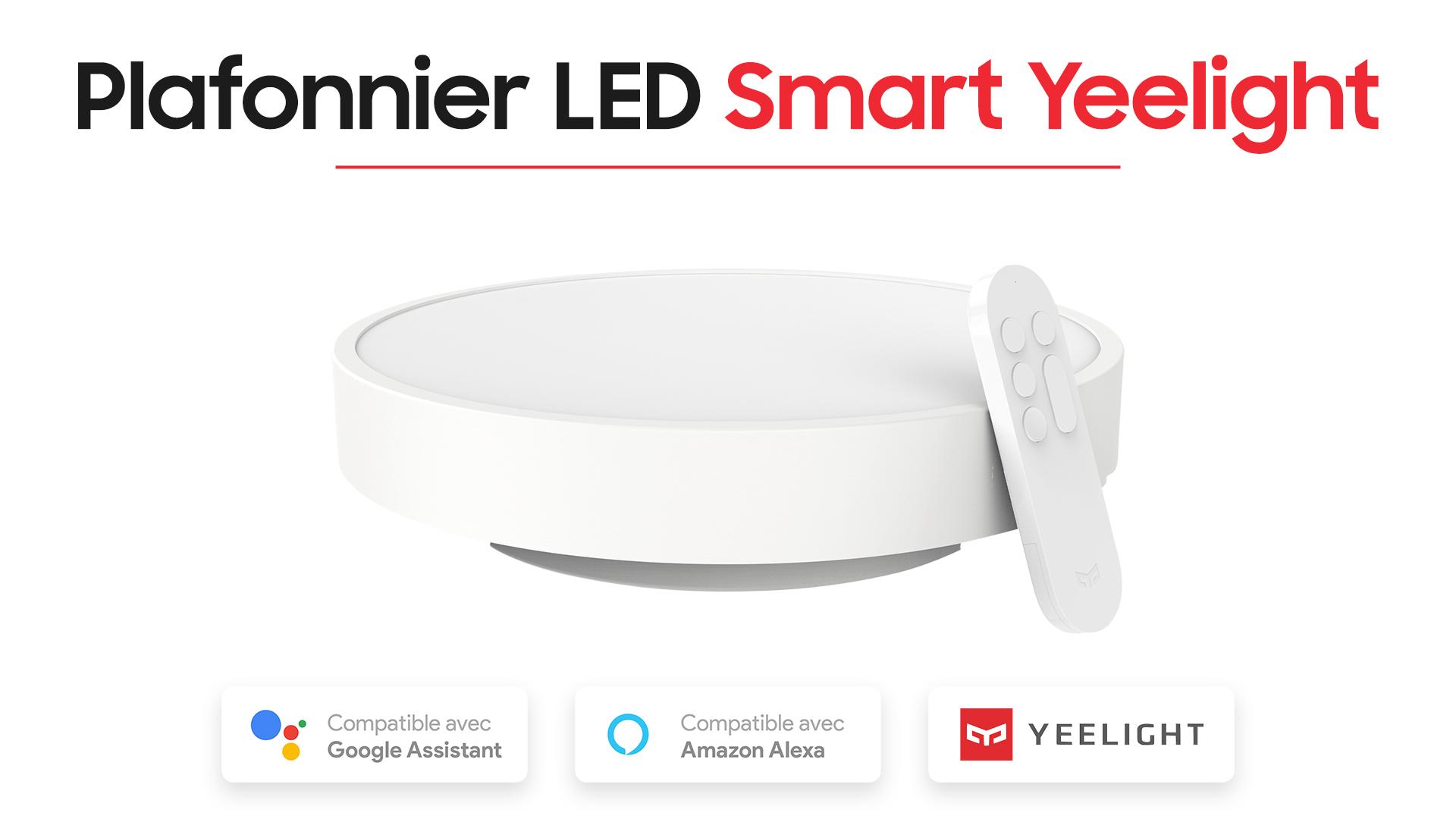 Découverte et test du plafonnier à LED Yeelight de Xiaomi