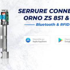 Présentation de la serrure connectée RFID et Bluetooth Orno ZS