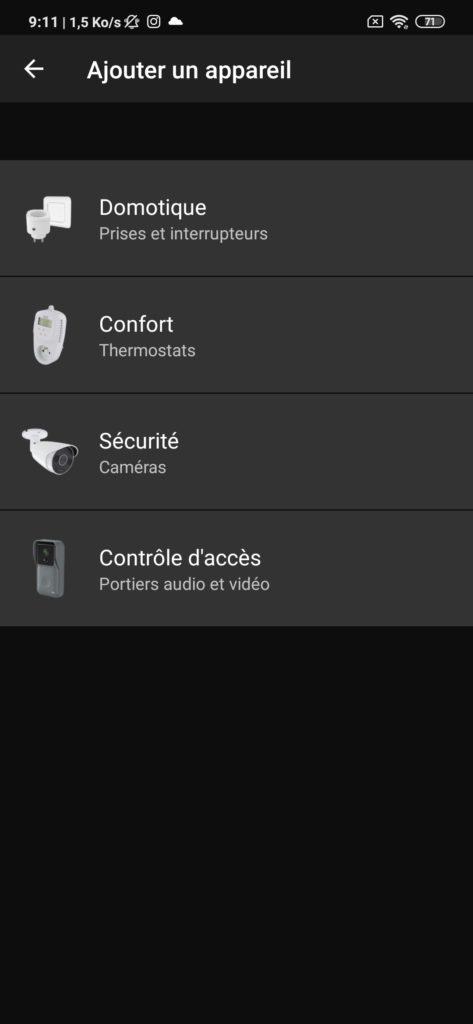 Interface application DiO Rev Shutter domotique