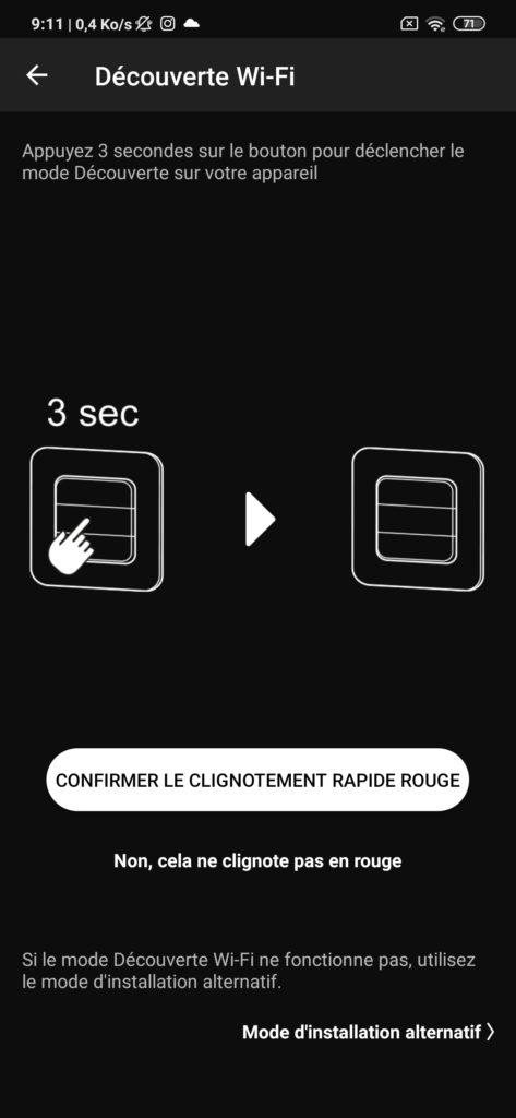 Interface application DiO Rev Shutter détection