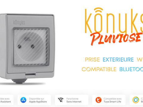 Konyks Pluviose Easy, une prise connectée Wifi pour l'extérieur