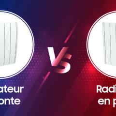 Radiateur fonte vs radiateur pierre naturelle avec caméra thermique